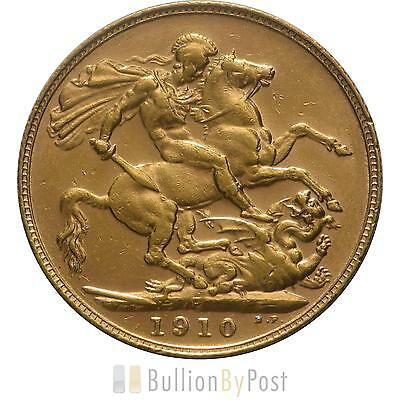 1910 Gold Sovereign - King Edward VII - P