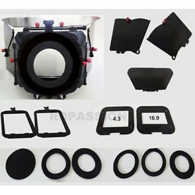 MB - 7 PLUS Matte box kit for Camera Rigs , Cags 15 mm rod Support