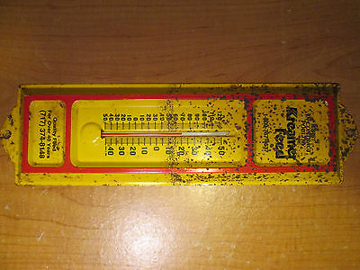 Kreanier Feed Advertising Tin Metal Outdoor Thermometer Vintage