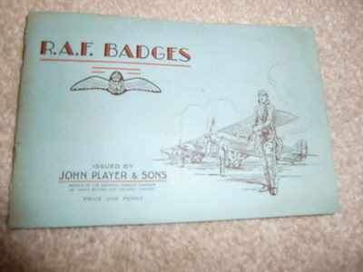 R A F BADGES A FULL SET IN ALBUM by JOHN PLAYER & SONS 1937