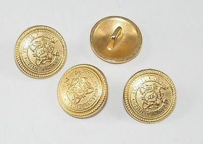 10 Metal Buttons Buttons Coat of arms of buttons 15,4mm gold 07.19/591