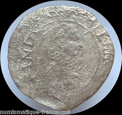 M12- Origin FRANCE rar DOUBLE DENAR Silver Colonial coin Philip IV of Spain 1621