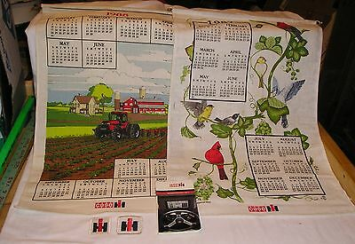 Lot of Case/IH Collectibles - 2 Patches, Ag Info Vol 1, 1987 & 1988 Calendars