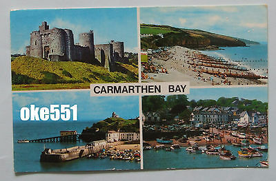 Camarthan Bay, Multi View, Wales, Postcard