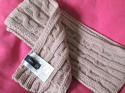 New GAP Kids Girls Light  Mauve/ Pink Cable Knit Winter Scarf  NEW IN PACKAGE