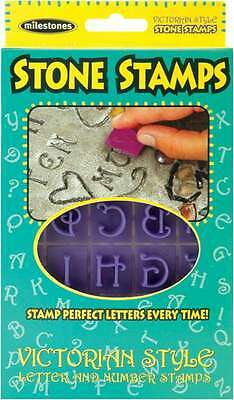 Stone Stamps-Victorian Style Letters & Numbers 601950205110