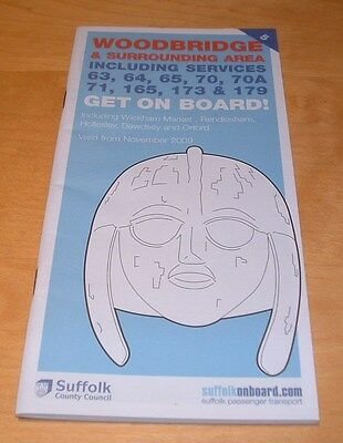 Woodbridge Suffolk County Bus Timetable  - Winter 2009 - Brand New And Unused
