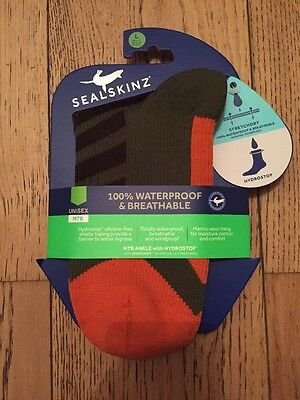 Sealskinz Socks 100% Waterproof And Breathable Size L Large BNWT