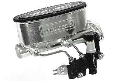 "Wilwood Polished 1"" Bore Master Cylinder & Adjustable Proportioning Valve"