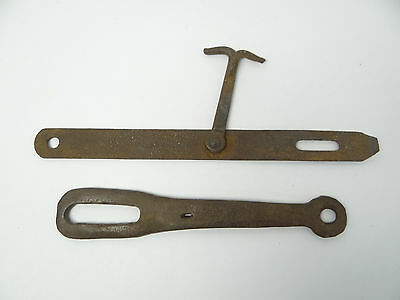 Antique Old Forged Iron Barn Door Hasps Hook Metal Parts Hardware Used