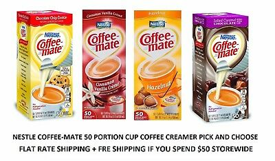 Coffee-mate Liquid Coffee Creamer 50 -0.375 fl. oz. Tubs FREE WORLDWIDE SHIPPING