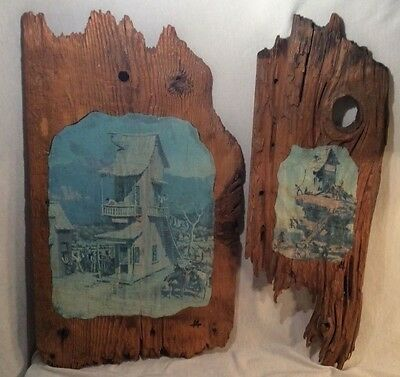 Authentic Antique Barn Wood Artwork Old Western Art