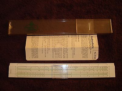 Faber Castell No. 57/87 Slide Rule, Case and Instructions - made in Switzerland