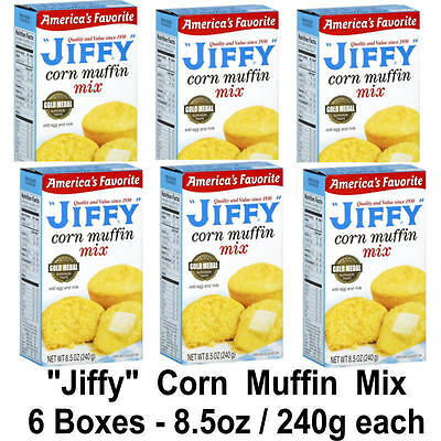 6 x JIFFY CORN MUFFIN MIX 8.5oz - 240g CAKE MIX 6 packs