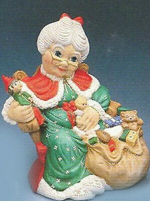 """Ceramic Bisque Ready to Paint Large Mrs.Santa 17"""" tall"""