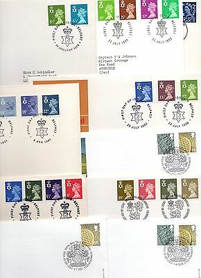 10 Northern Ireland Definitive  FDC First day Covers - Good Condition