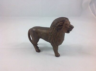 Vintage Early 1900s Cast Iron Lion Bank Tail Right A. C. Williams