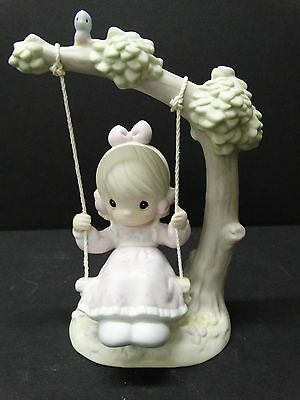 Precious Moments ~ MY WARMEST THOUGHTS ARE YOU ~ #524085 ~ Girl Swing Ship