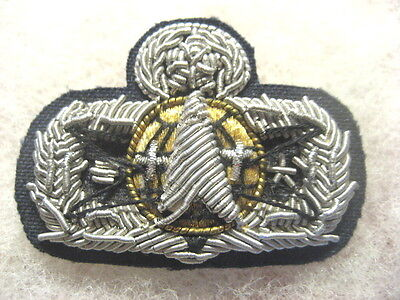 US Air Force badge Wings SPACE MISSILE MASTER bullion