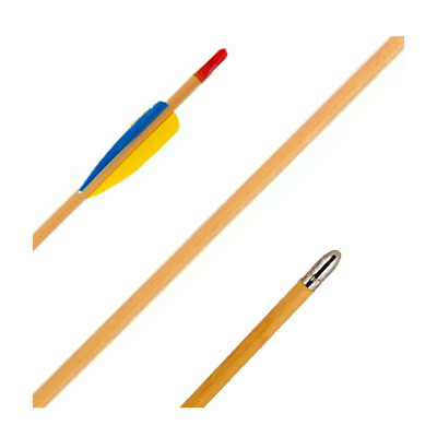 "SILCO 30"" Wooden Field Archery Arrows For Light Compound & Recurve Bow"
