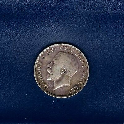 1914 Great Britain Half Crown coin in .925 silver (KM#818.1) at V.F. condition