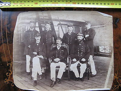 Unknown Officers Sailers Steamship  Albumen Photo c1890