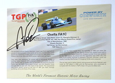 Osella FA1c official card with original autograph
