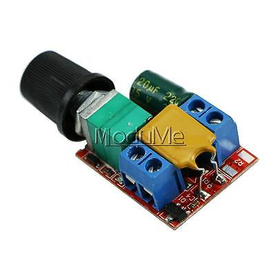 Mini DC 5A Motor PWM Speed Controller 3V-35V Speed Control Switch LED Dimmer MO