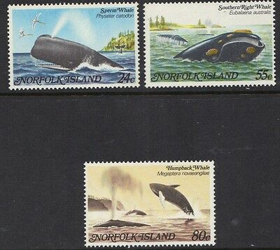 STAMPS  NORFOLK  ISLAND    1982 WHALES    (MVLH)   lot 630xx
