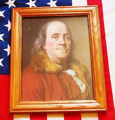 American Patriot of the Revolution, Portrait Benjamin Franklin, on canvas 1778