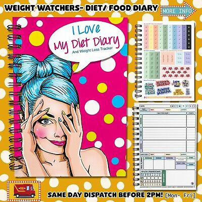 Diet Food Diary Slimming WEIGHT WATCHERS Tracker Journal 3mth NEW 2017 PLAN C-1