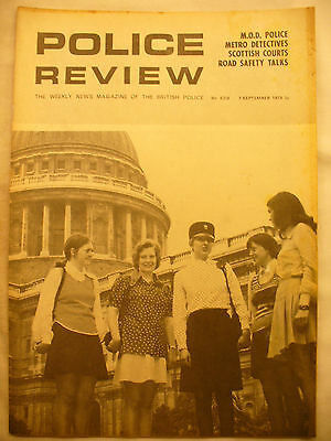 POLICE REVIEW WEEKLY NEWS 7TH SEPTEMBER 1973 ex and original