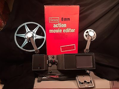 Sears 8mm Action Movie Editor Vintage Photography Film Reel To Reel