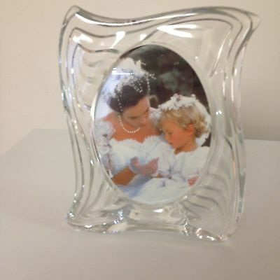 mikasa glass picture frame new