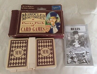 Monocled Mortimer's Party Pack Of Card Games.