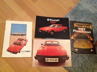 Collection Of 4 Triumph Tr7 Brochures