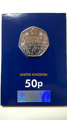 Beatrix Potter 50p Coin 2016 Commemorating 150 Years New Brilliant Uncirculated