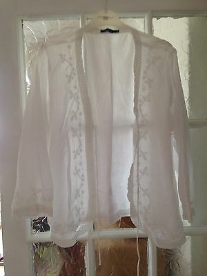 Women's Dash White Sequin Embroidered Jacket Size 18