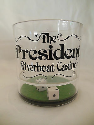 VTG President Riverboat Casino Plastic Cup Dice Collectible EUC Gift