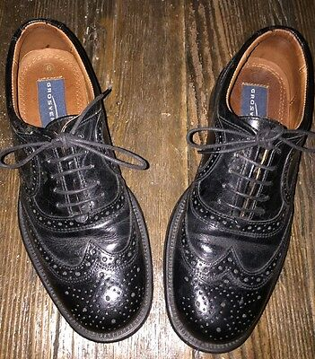 Grosvenor Black Mens Classic Leather Brogues Size 6