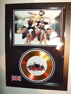 Mc Busted    Signed Framed Gold Disc   Display(2)