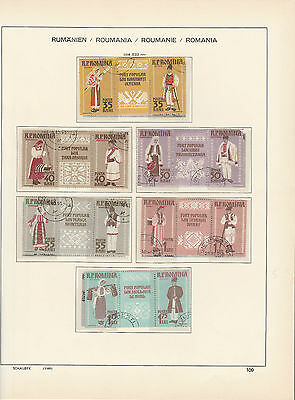 ROMANIA,1958 Customes in setenent gutter , Fine Used