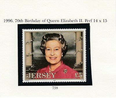 JERSEY 1996 Queens 70th Birthday £5 issue  MINT NH