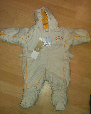 Size: 1 Month - ALPHABET - Baby Snowsuit, Gloves, Booties - Brand New With Tags