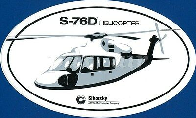 S-76D Sikorsky Aircraft Helicopter Oval Sticker