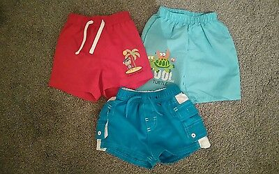 3 x baby boy swimming / shorts.  size 6-9 months