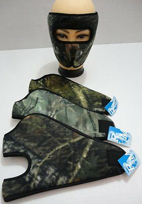 Wholesale Lot Fleece Wrap Around Face Mask Real Woods Print Hunters Winter