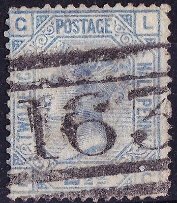 SG142 2½d Blue. Plate 19. GREENOCK Cancel. Very Fine Example. CAT £55.00