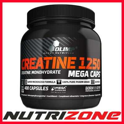 OLIMP CREATINE MONOHYDRATE 1250mg Strong 400 Mega Caps Strength Boost+ KNOCKOUT