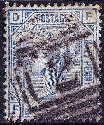 SG157 2½d Blue. Plate 23. ABERYSTWYTH Cancel. Very Fine Example. CAT £35.00